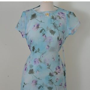 Floral see through coverup dress